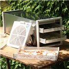 Stainless steel tunnel dryer dehydrator with thermostat 10 plastic trays