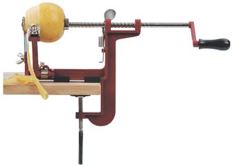 Vice apple peeler