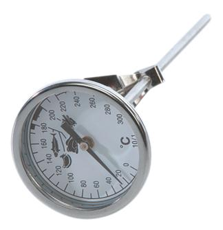 Probe thermometer for frying with dial