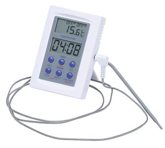 Oven thermometer with stainless steel probe