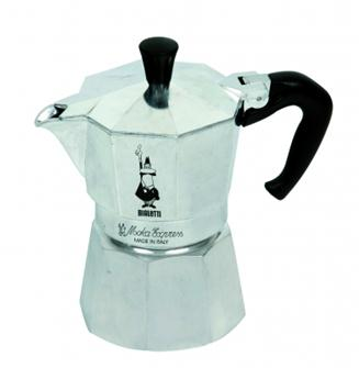 Italian coffee maker in aluminium - 3 cups
