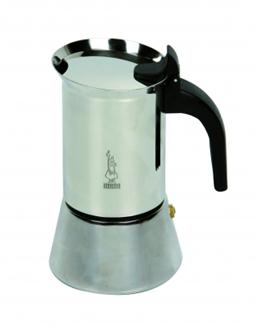 Italian coffee maker in stainless steel - 4 cups