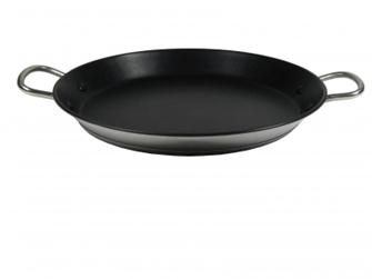 Stainless steel non-stick paella pan 32 cm