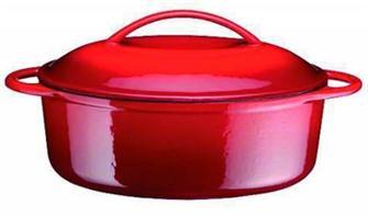 Cast iron oval casserole dish 34 cm, 4 litres