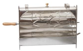 Manual fireplace rotisserie spit in tin 52 cm