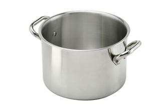 Aluinox induction stew pot in aluminium/stainless steel 16 cm