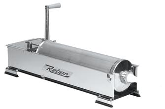 Horizontal 10 litre Reber stainless steel meat stuffer