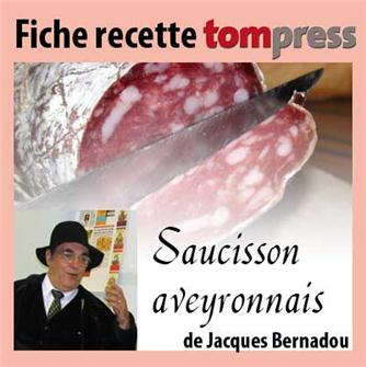 Recipe for Aveyron region country sausage by Jacques Bernadou
