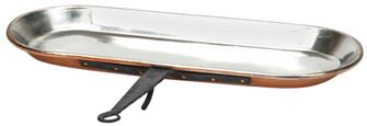 Copper drip pan 70 cm