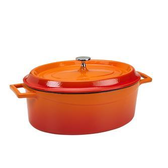 Oval orange casserole dish 29 x 22 cm