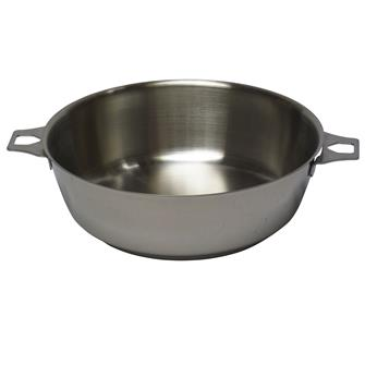 Stainless steel 24 cm pan with no handle