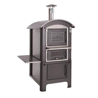 Outdoor wood oven measuring 80x45 cm