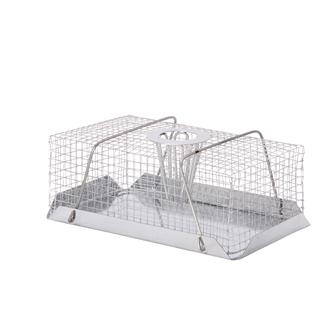 Rectangular rat cage trap