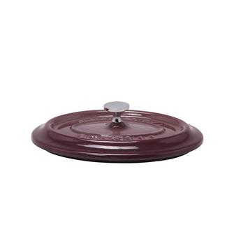 Oval aubergine cast iron lid