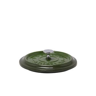 Round green cast iron lid