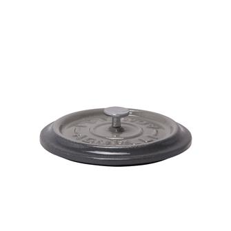 Round grey cast iron lid