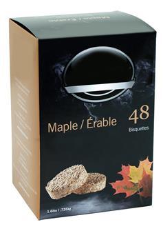 Maple sawdust bisquette