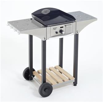 Stainless steel trolley for 40 cm plancha plate