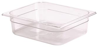 BPA free gastronorm container 1/2 in copolyester. Height 10 cm.