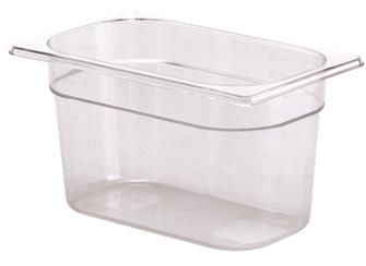 BPA free gastronorm container 1/4 in copolyester. Height 15 cm.