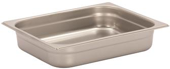 Stainless steel gastronorm container 1/2. Height: 6.5 cm EN-631