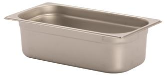 Stainless steel gastronorm container 1/3. Height: 10 cm EN-631