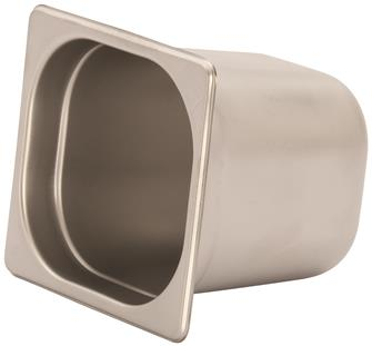 Stainless steel gastronorm container 1/6. Height: 15 cm EN-631