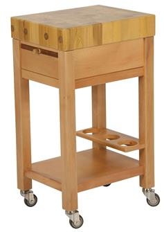 Trolley for chopping block 50x40 cm