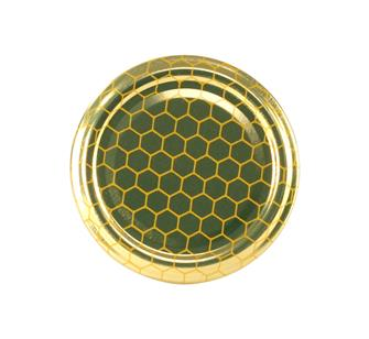 Honeycomb honey jar twist off lids 63 mm by 10