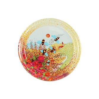 Twist-off honey Provence lids - 63 mm by 10