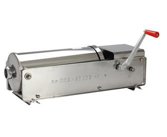 Horizontal 10 litre sausage stuffer in stainless steel
