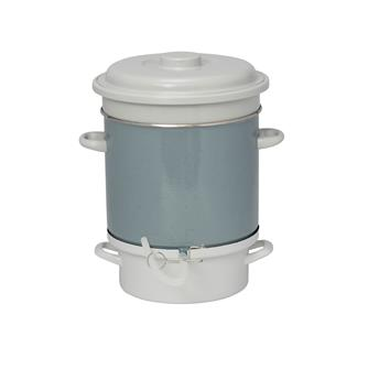 Enamelled steam juicer - gas and induction hobs