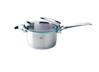 16 cm diameter tall saucepan with lid and handle