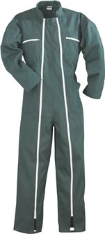 Green polycotton jumpsuit 2 zips size M