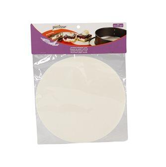 Set of 20 greaseproof paper discs
