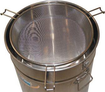 Sieve strainer for 100 kg storage tank