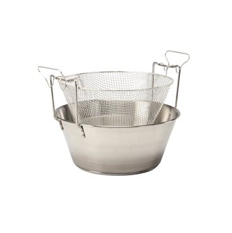 Fryer 30 cm stainless steel compatible induction