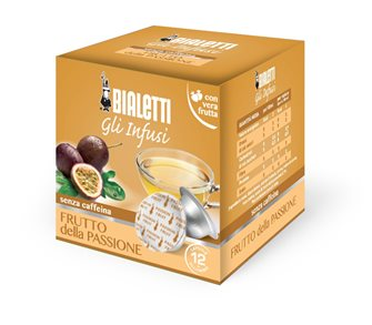 Box of 12 capsules Bialetti infusion passion fruit