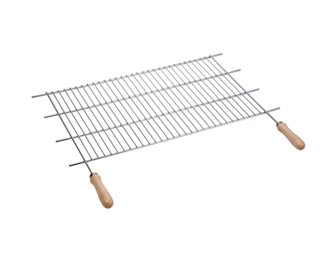Stainless ajustable BBQ grill in larger 62,5/72,5x40 cm
