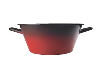 Enamelled steel flame basin 36 cm 13 liters
