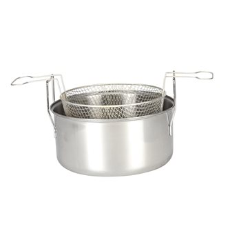 Stainless steel fryer induction 28 cm