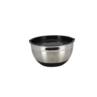 Pastry bowl stainless steel silicone 20 cm with lid