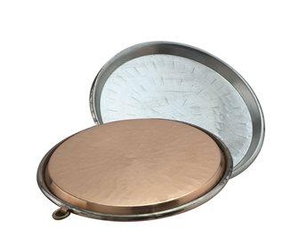 Copper socca dish 40 cm