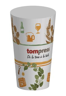 Reusable Tom Press Beer Pattern Tumbler