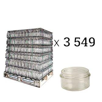 Glass pâté jars 130 g with twist off lids by 12