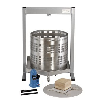 Hydraulic fruits press 50 liters in steainless steel