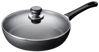 SCANPAN 28 cm Classic sauté pan with lid guaranteed for life