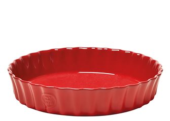 Emile Henry red Grand Cru red ceramic pie 28 cm