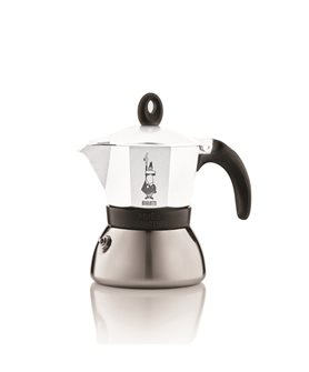Italian induction coffee maker white - 3 cups