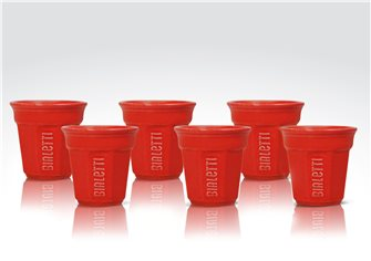 Set of 6 red Bialetti cups